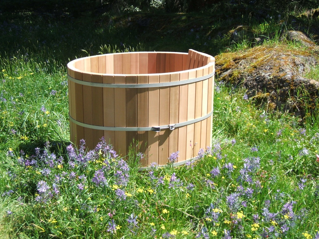 Japanese Style Wooden Soaking Tubs Forest Lumber  Cooperage - Outdoor japanese soaking tub