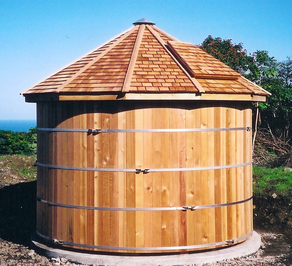 Water storage tank wooden water storage tank for Cistern plans