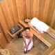 vertical sauna inside