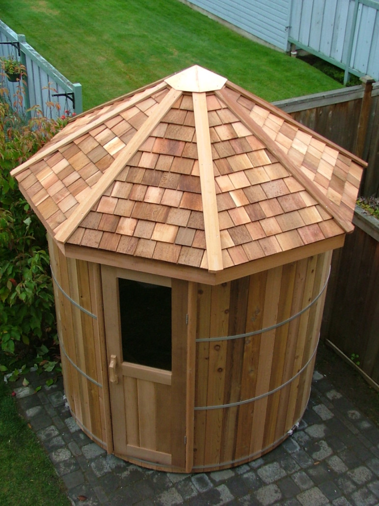 Cedar Barrel Sauna Kits And Wood Barrel Saunas Forest